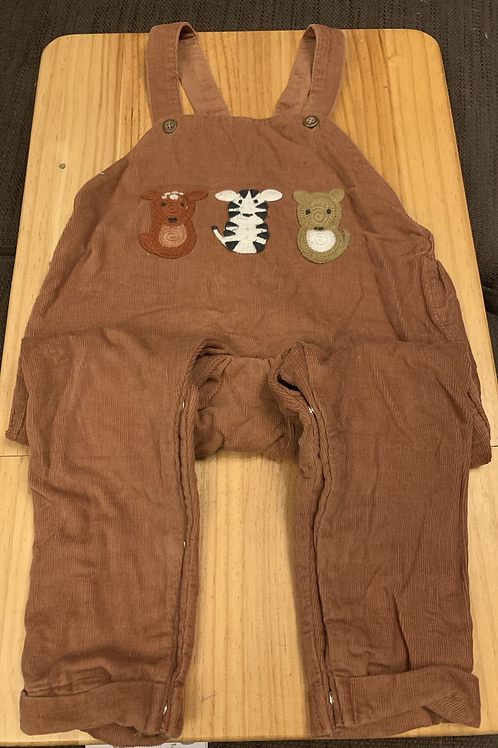 18-24m NEXT Brown Corded Dungarees - W9