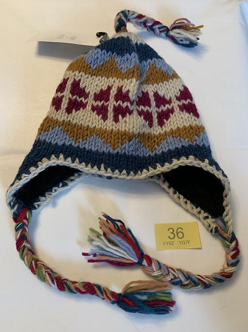 1-4 Years Very Warm Handmade Earflap Hat - Y36