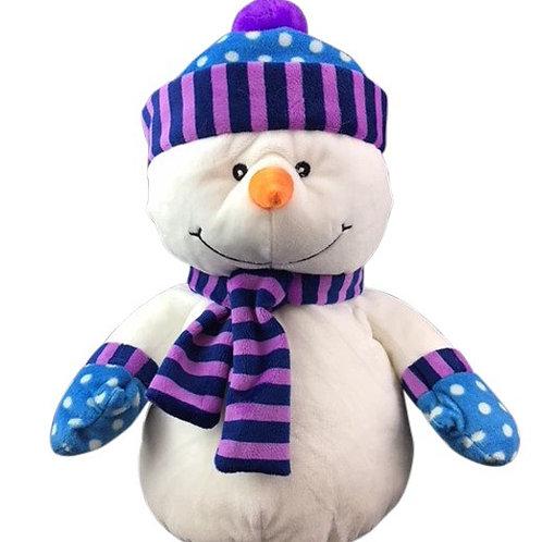 "Snowman - 16"" - Purple"