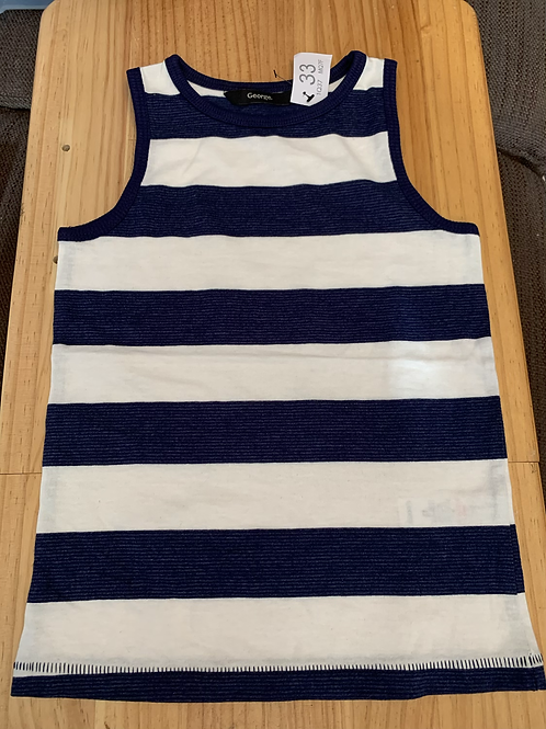 2-3 years blue white strip vest - W33
