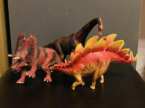 3 x Rubbery Dinosaurs