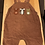 Thumbnail: 18-24m NEXT Brown Corded Dungarees - W9