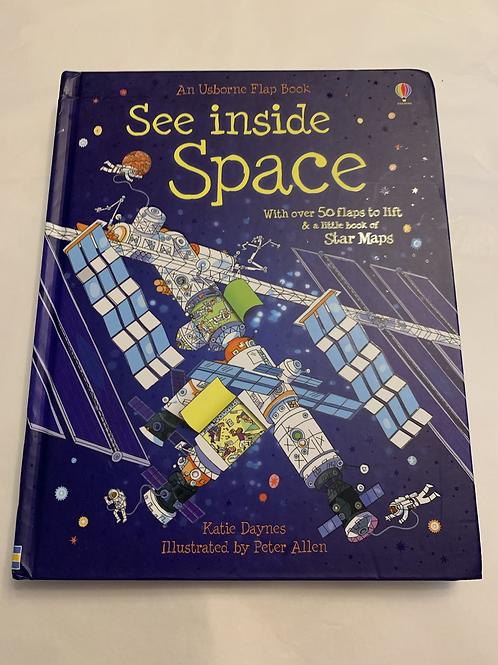 See inside Space - flap book - Y44