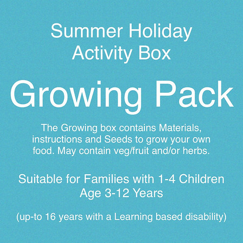 Growing Pack - Summer Holiday Activities