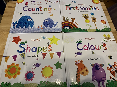 Marzipan Counting, First Words, Colours & Shapes