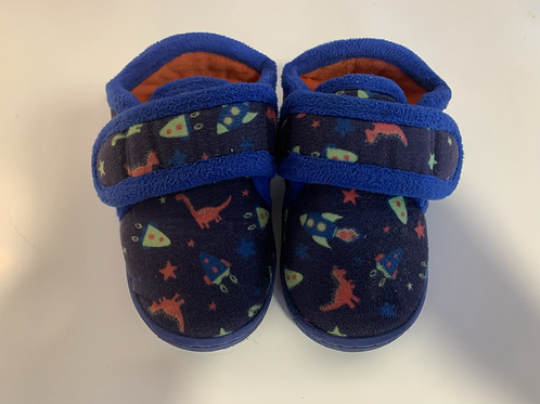 Child Size 7 Dino Space Slippers Preloved
