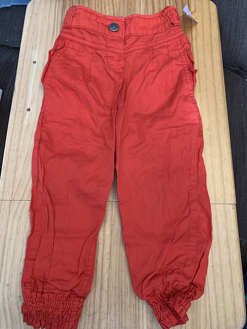 18-24 Months Red Trousers with flower button - W35
