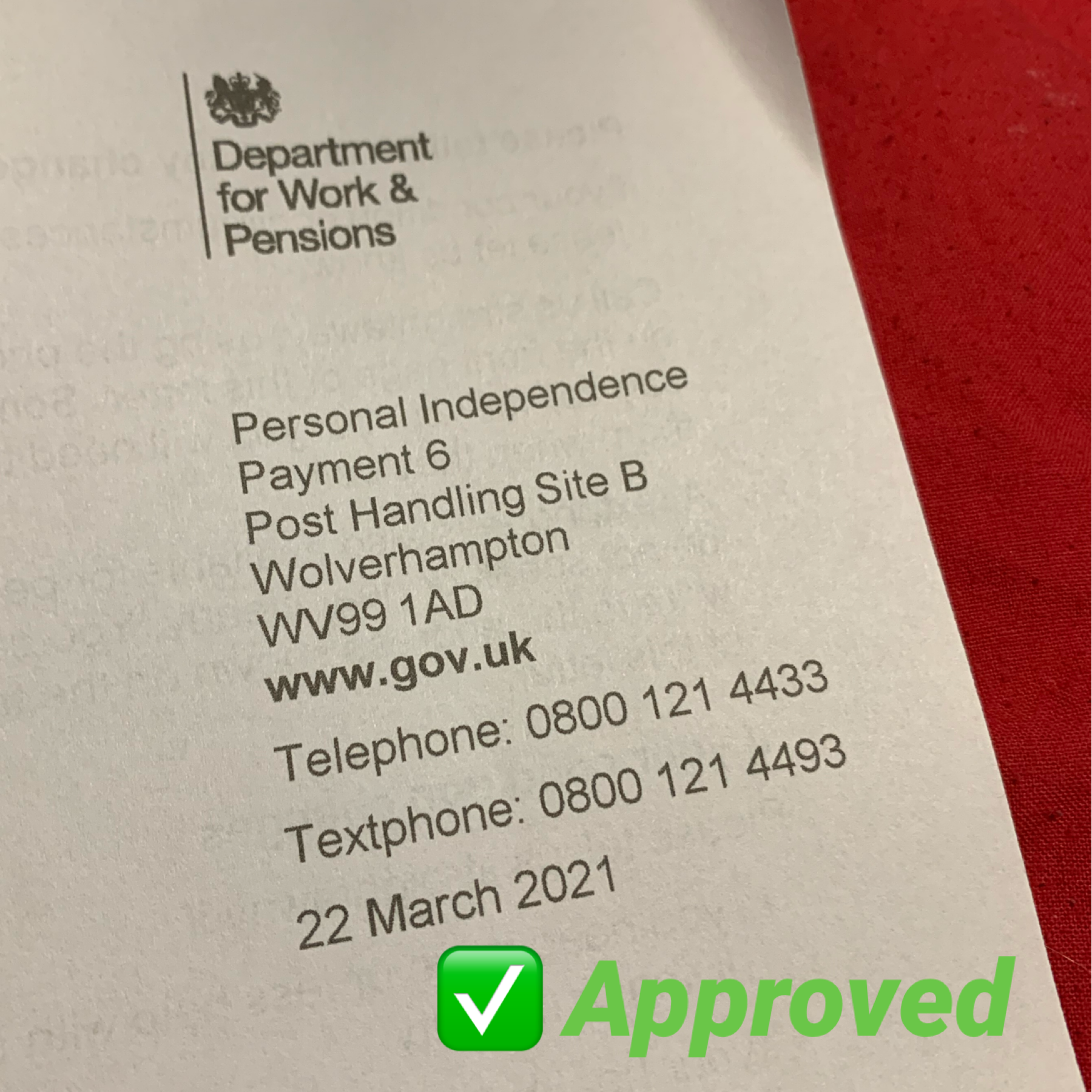 Personal Independence Payment (Part)