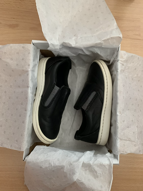 Black Leather Boys Street Verve Shoes Clarks 7G