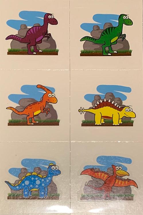 6 x Dinosaur Tattoos - Fundraising