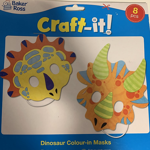 Dinosaur Colour in Masks