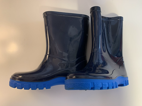 Child Size 7 Blue Wellies Preloved