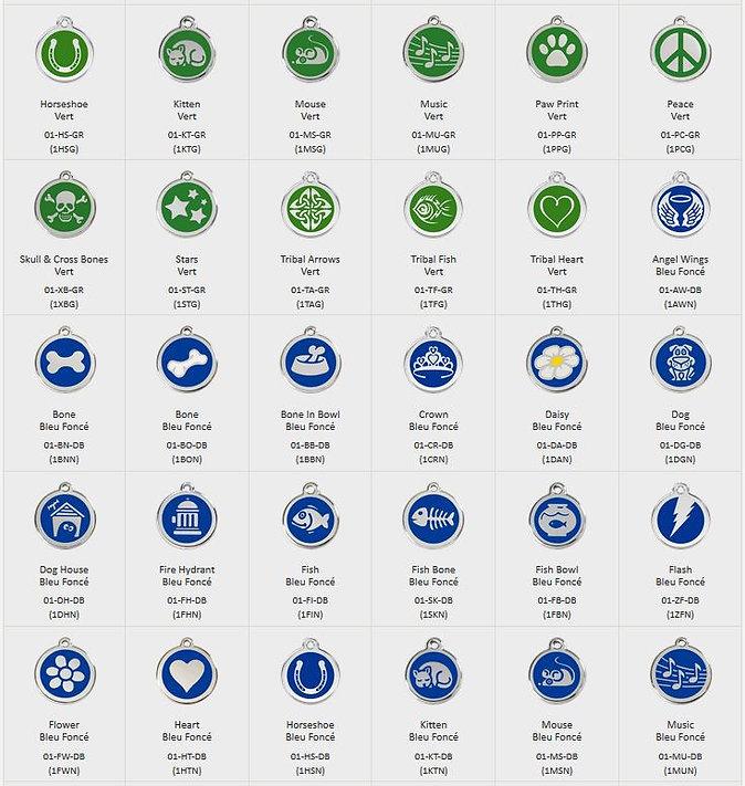 Médailles motifs colories