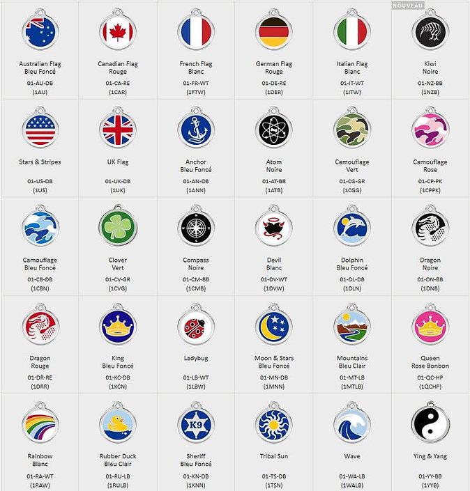 Médailles émail et colorie