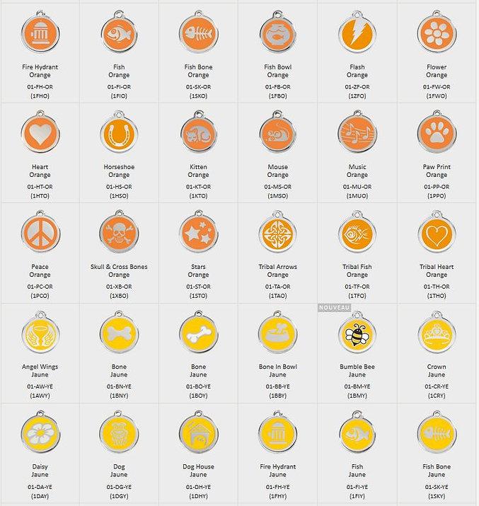 Médailles motifs coloris