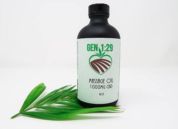 Massage Oil 8oz -Black Glass Bottle