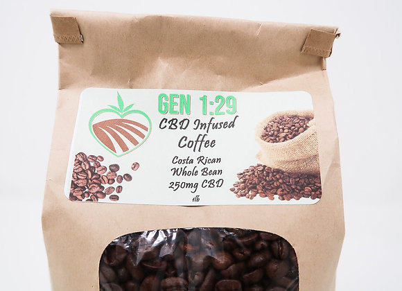 Coffee WHOLE BEAN 1lb. - 10mg per 10oz cup