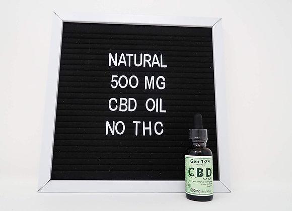 30ml NATURAL CBD in Hemp - ZERO THC