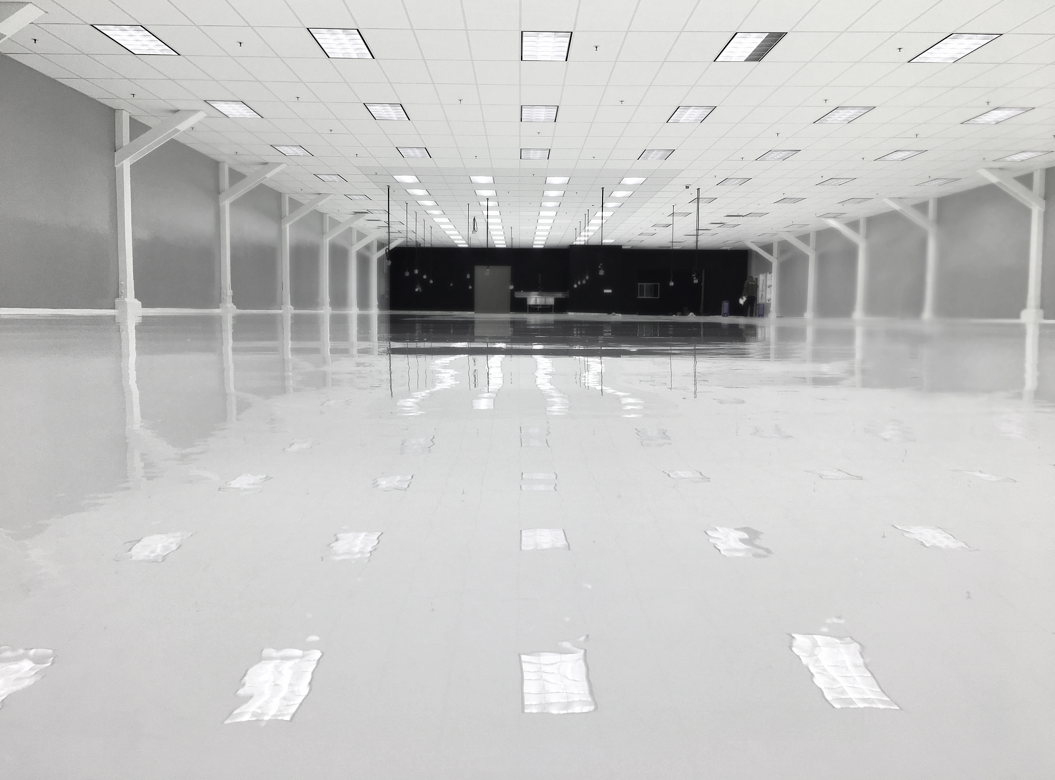 Grind and White Epoxy Flooring