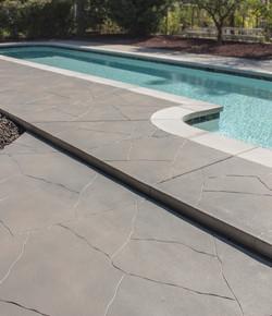 Grey Pool Deck Blend Cracks with Cuts