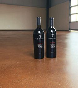 Winery Concrete Grind Stain Seal