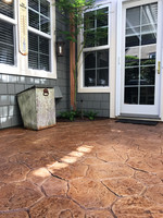 Stain and Seal Stamped Concrete Patio