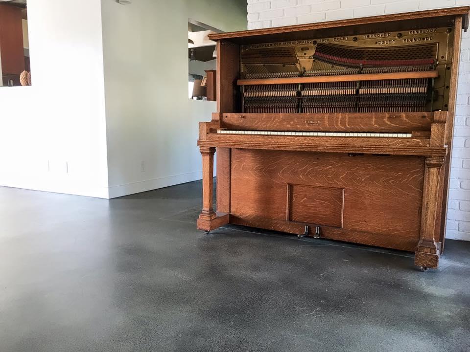 Black Concrete Floor Stain