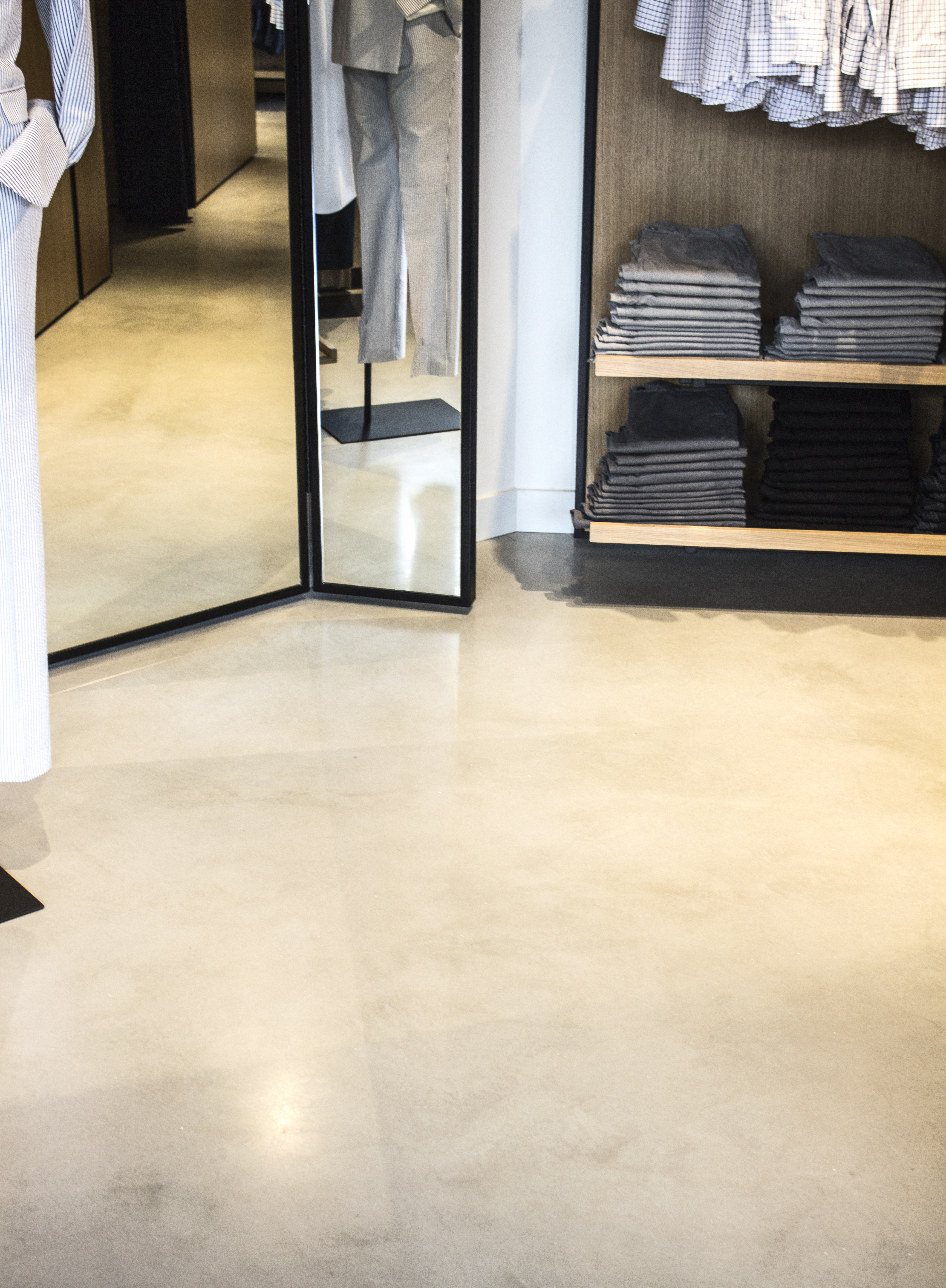 Polished Concrete Floor Bonobos Store