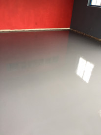 Solid Stain and Clear Epoxy Coating