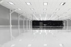 Grind and White Epoxy Flooringx