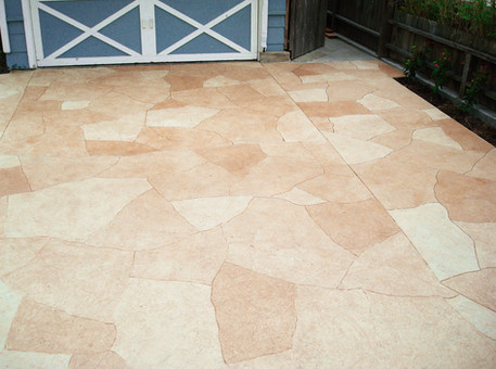 Decorative Concrete Cuts, Multi-Color Stain, Seal