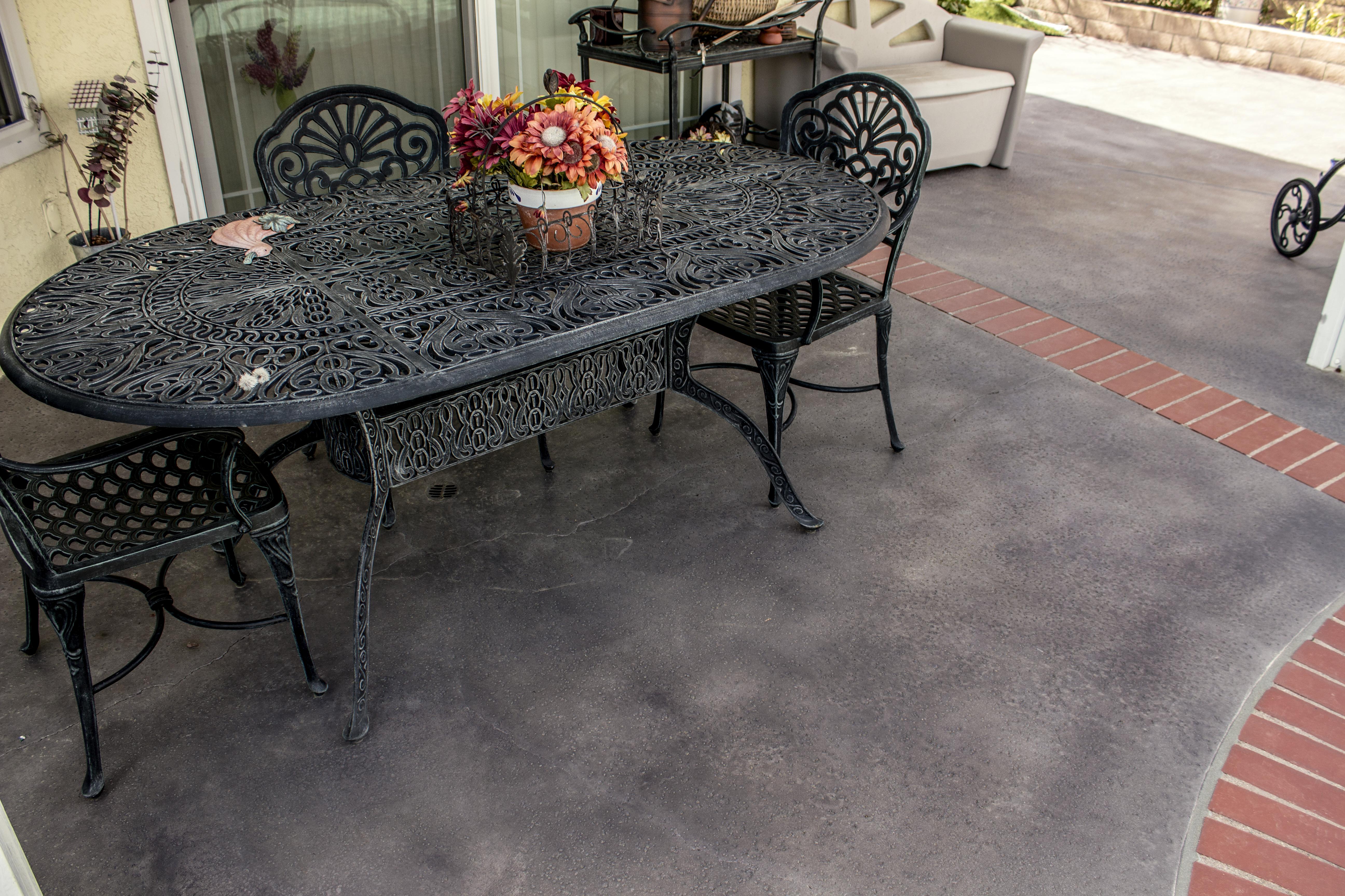 Black Outdoor Concrete Stain