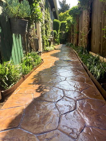 Stamped Concrete, Stain, Seal