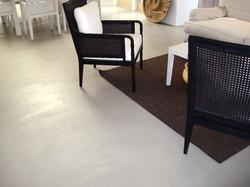White Interior cement coating overlay