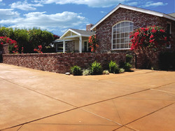 Concrete Staining Driveway
