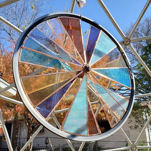 """Blamber Stained Glass Bike Wheel - 25"""""""