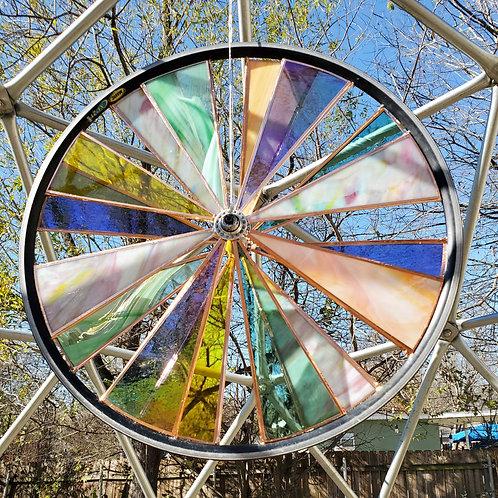 "Stained Glass Bike Wheel (25"")"
