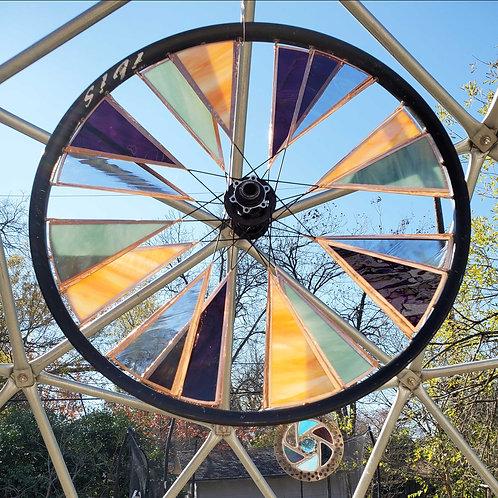 "Stained Glass Bike Wheel (22"")"