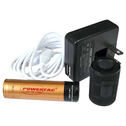 PowerTac E9 / Warrior Gen 3 - USB Rechargeable Upgrade Package