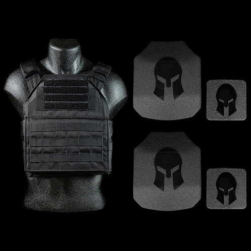 Spartan AR550 Body Armor Shooters Cut & Spartan Plate Carrier Package *Special