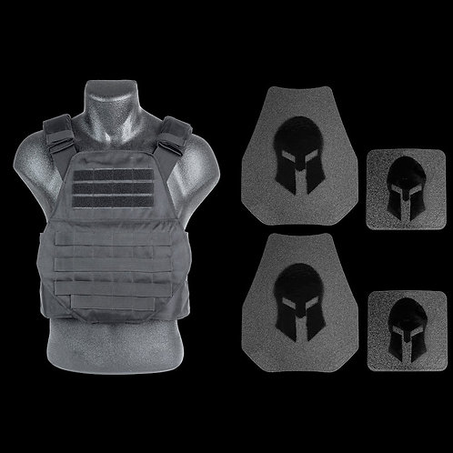 Spartan AR550 Body Armor Swimmers Cut & Spartan Plate Carrier Package *Special