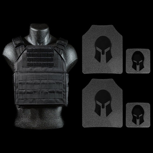 Spartan AR500 Omega Armor & Shooters Cut Plate Carrier Package
