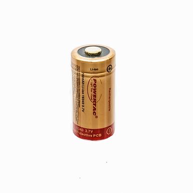 PowerTac RCR123A /16340 Single Battery