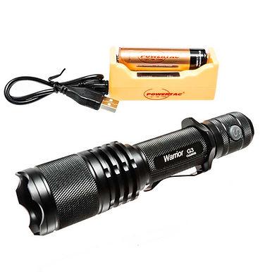 Warrior G3- 1050 Lumen Tactical Flashlight Rechargeable Kit