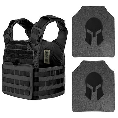 Spartan AR500 Omega Body Armor & Wolf Bite Tactical Helix Carrier Package