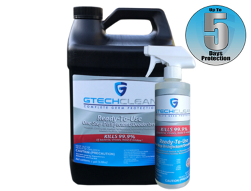GTech Clean 1 Gal Bottle + 16 Oz. Spray Bottle Bundle