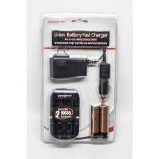 PowerTac Li-ion Battery Fast Charge Kit