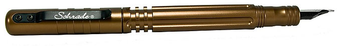 Schrade Tactical Fountain Pen w/ Ball Point Brown