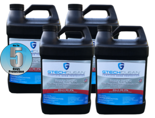 GTech Clean 1 Gallon Sanitizer 4-Pack
