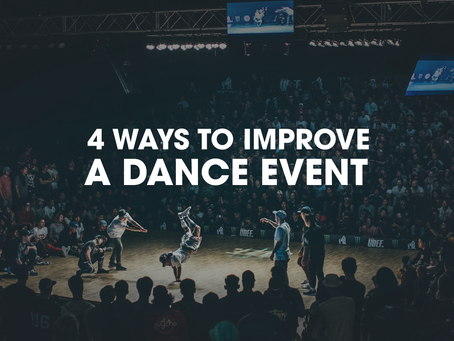 Four Ways to Improve a Dance Event